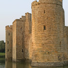Picture - The round tower of Bodiam Castle.