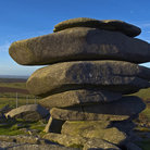 Picture - A granite rock formation in Bodmin Moor.