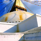Picture - Close up of Bodnath Stupa in Kathmandu.