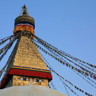Picture - The top of Bodnath stupa in Kathmandu.