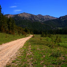 Picture - Dirt Road leading into Boise National Forest.