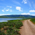 Picture - Little Camas Reservoir in Boise National Forest.