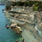 Picture - The coastline at the city of Bonifacio.
