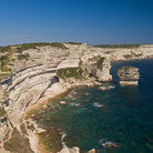 Picture - Cliff walls near the city of Bonifacio.