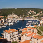 Picture - View over the Port of Bonifacio.