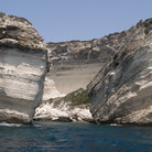 Picture - White cliffs near Bonifacio.