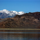 Picture - Mountains behind the Bonneville Salt Flats.