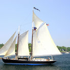 Picture - Windjammer in Boothbay Harbor.