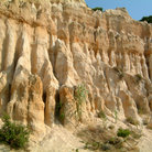 Picture - Cliff of sandstone formations near Bort-les-Orgues.
