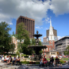 Picture - Boston Common during the summer.