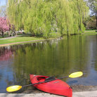 Picture - Red kayak in Boston Common, MA.