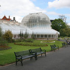 Picture - Glass building at the Botanic Gardens in Belfast.