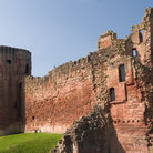 Picture - Bothwell Castle wall and tower.