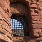 Picture - Crumbling window of Bothwell Castle.