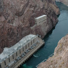 Picture - Colorado River below Hoover Dam, Boulder City.