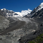 Picture - View of Corbassiere Glacier and Grand Combin.