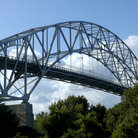 Picture - Bourne Bridge in Cape Cod.