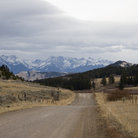 Picture - Country road near Bozeman, Montana.