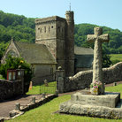 Picture - Branscombe Church and war memorial.