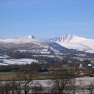 Picture - Winter at Brecon Beacons.