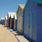 Picture - Colorful shacks along Brighton Beach.