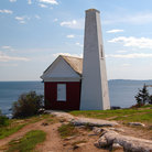 Picture - Pemaquid Point bell tower, Bristol, Maine.