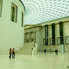 Picture - Main hall of the British Museum in London.