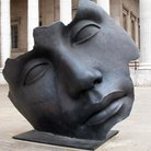 Picture - Face by Igor Mitoraj at British Museum, London.