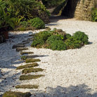 Picture - Stone walkway at Brodsworth Hall.