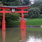 Picture - Japanese Garden in the Brooklyn Botanic Garden.