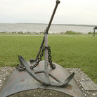 Picture - Old anchor memorial at Brunswick.