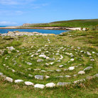 Picture - A stone maze at Bryher Island.