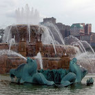 Picture - Close-up of Buckingham Fountain in Chicago.