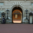 Picture - Guards at an entrance to Buckingham Palace.