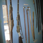 Picture - Traditional guns and other ammunitions used in olden Dubai at the Dubai Museum.