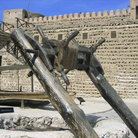 Picture - An old arab dhow axle on exhibit at the Dubai Museum.