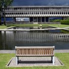 Picture - Grounds of the Simon Fraser University in Burnaby.