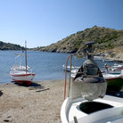 Picture - Boats on the beach at Port Lligat.