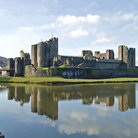 Picture - View of the Caerphilly Castle at Cardiff.