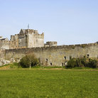 Picture - Stone walls of the Cahir Castle.