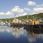 Picture - Calm waters at the harbor at Caledonian Canal.