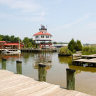Picture - View of the Calvert Marine Museum seen from the docks in Solomons.