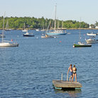 Picture - Swimming dock at Camden Harbor.
