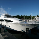 Picture - Private yacht docked in Camden Harbor.