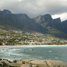 Picture - Camp's Bay with mountain behind.