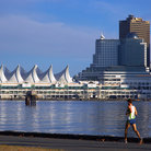 Picture - View of Canada Place in Vancouver.