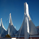 Picture - Sail-like structure of Canada Place in Vancouver.