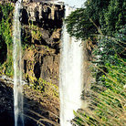 Picture - Salto Kam  waterfalls as seen in late day on La Gran Sabana in Parque Nacional Canaima (Canaima National Park).