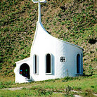 Picture - Spiral shaped chapel stands just outside town of Santa Elena.