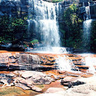 Picture - Roadside waterfall on La Gran Sabana in Parque Nacional Canaima (Canaima National Park).